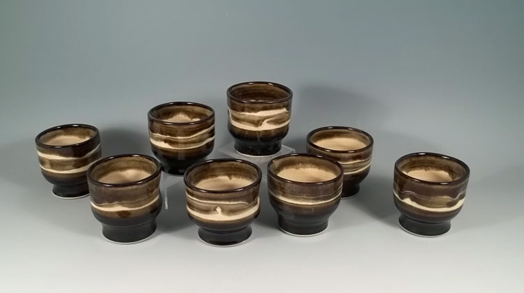 Olive Line Wine Cups