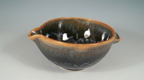Shuswap Blue Spouted Bowl