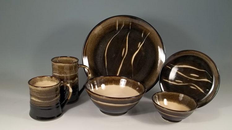 Olive Line Dinnerware