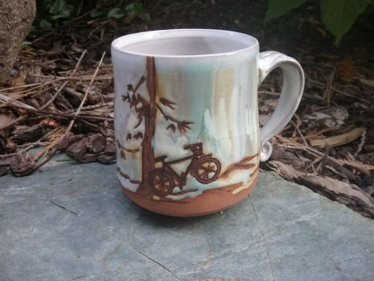 bicycle mug by sheryl willson