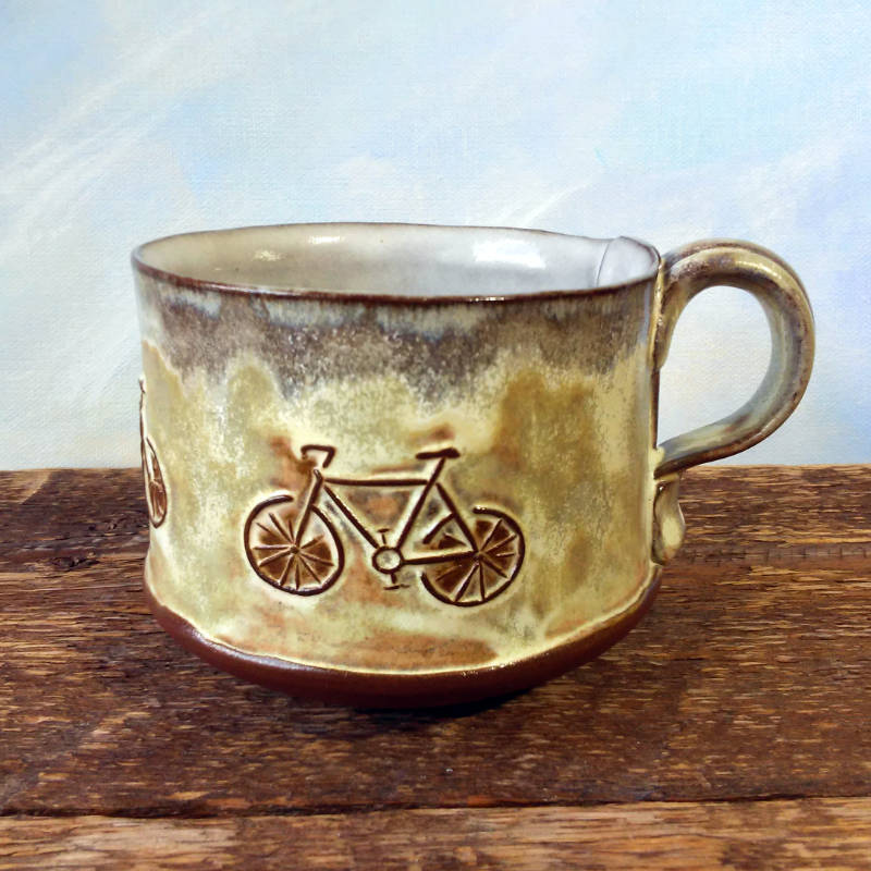 Bike Mug by Sheryl Willson