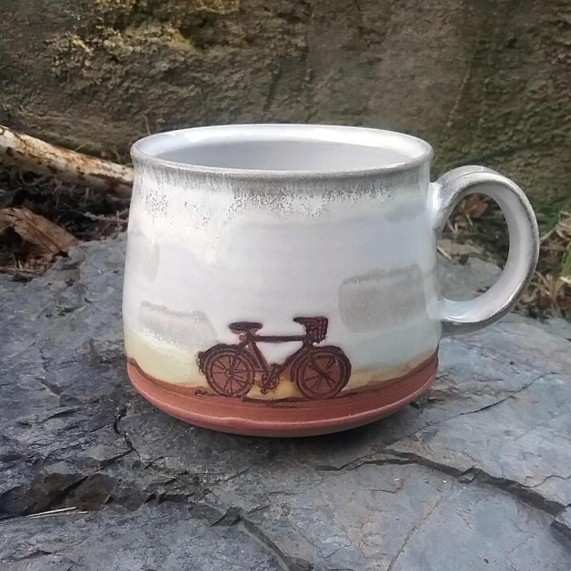 Bike Mug - White