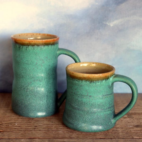 Short and Tall Copper Mug